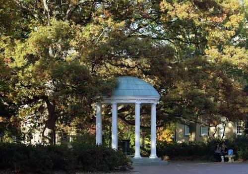 The Old Well, the symbol of the University of North Carolina at Chapel Hill.