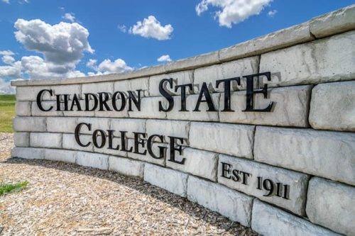 East entrance sign at Chadron State College. (Photo by Daniel Binkard/Chadron State College)