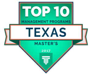 Top 10 Master's in Management Programs in Texas 2017