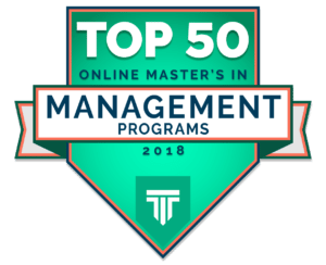 TOP 50 ONLINE MASTER'S IN MANAGEMENT DEGREE PROGRAMS 2018